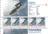 Holland - Flyserie - V1 - Postfrisk miniark