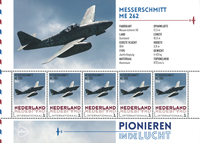 Netherlands - Airplanes Messerschmidt - Mint souvenir sheet