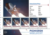Holland - Flyserie - Rumfart - Postfrisk miniark