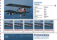 Holland - Flyserie - Sopwit - Postfrisk miniark