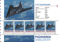 Netherlands - Airplanes Night - Mint souvenir sheet