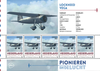 Holland - Flyserie Lockheed - Postfrisk miniark
