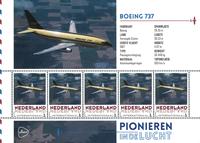 Holland - Flyserie - Boeing - Postfrisk miniark