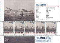 Holland - Flyserie - Helikopter - Postfrisk miniark