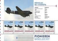 Holland - Flyserie - Douglas Dakota - Postfrisk miniark