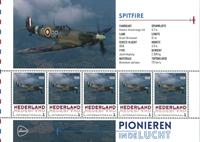 Holland - Flyserie - Spitfire - Postfrisk miniark
