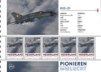 Holland - Flyserie - MIG 21 - Postfrisk miniark