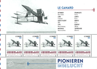 Netherlands - Airplanes Le Canard - Mint souvenir sheet