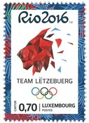Luxembourg - Jeux Olympiques Rio - Timbre neuf