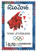 Luxembourg - Olympic games Rio 2016 - Mint stamp