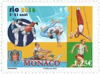 Monaco - Jeux Olympiques Rio - Timbre neuf