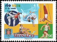 Monaco - Olympiske lege Rio 2016 - Postfrisk frimærke