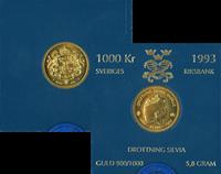 Sverige guldmønt - Dronning Silvia 50 år.1993
