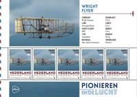 Holland - Flyserie - Wright brødre - Postfrisk miniark