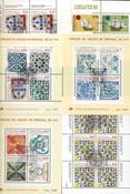 Portugal - 44 forskellige stemplede miniark