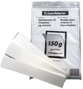 Leuchtturm klemlommer - Klare - 150 gram - Højde 24-31-41 mm