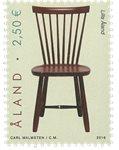 Åland - Design de chaises - Timbre neuf