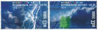 挪威新邮 挪威气象局2016 套票 2枚