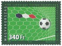 Hongrie - Championnat d'Europe de football - Timbre neuf