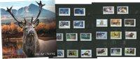 Norvège - Animaux sauvages norvégiens - Dépliant avec timbres courants