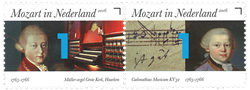 Holland - Mozart - Postfrisk sæt 2v
