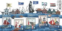 Netherlands - Fishermens' villages - Mint souvenir sheet