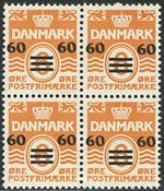 Îles Féroé - Bloc de 4 provisoires - 1941