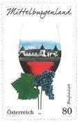 奥地利邮票 奥地利葡萄酒产区 - 中部的布尔根兰 新邮1枚