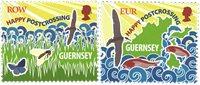 根西岛邮票 Postcrossing2016邮票 套票2枚