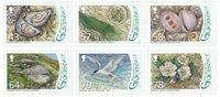根西岛邮票 赫尔姆岛的动植物 套票6枚