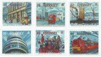 根西岛邮票 邮政创办500年纪念邮票 套票6枚