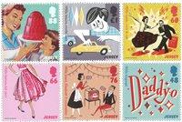 英属泽西岛邮票 1950年代的流行文化 小全张