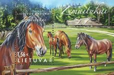 Litauen - Heste - Postfrisk miniark