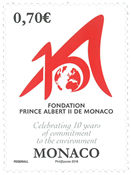 Monaco - Prince Albert II Fond - Postfrisk frimærke