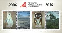 Monaco - Prince Albert II fond - Postfrisk miniark