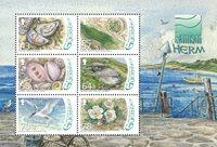 根西岛邮票 赫尔姆岛的动植物 小全张