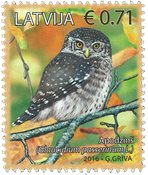 Lettonie - Chouette - Glaucidium - Timbre neuf