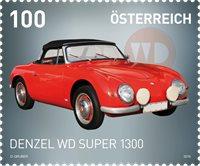 奥地利邮票 汽车系列--1957年产Denzel WD1300超级跑车 1枚