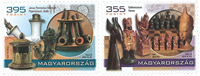 Ungarn - Pibe- og skakmuseum - Postfrisk sæt 2v
