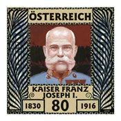 奥地利邮票 纪念弗兰茨·约瑟夫皇帝逝世100周年 1枚