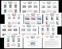 France - Trésors de la Philatélie 2015 - Pochette avec 10 blocs neufs diff.