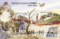 法国邮票 索姆河战役1916年至2016年100周年纪念 小全张