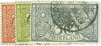 Holland 1906 - NVPH 84-86 - Stemplet