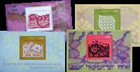 France - Laces - Mint set of 4 souvenir sheets