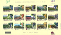 Italien - Italiensk vin - Postfrisk sæt 15v