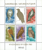 Bulgaria - Year of Protection of the nature 1980 - Mint souvenir sheet