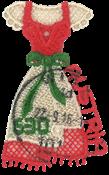Autriche - Robe traditionnelle « la Dirndl » - Bloc-feuillet oblitéré brodée - Timbre oblitéré