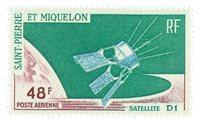St Pierre & Miquelon YT PA3 - 1966, satellite D1, PA