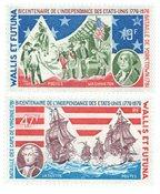 Wallis 190-91 * 19+47 fr Bicentenaire indépend.USA  1976