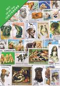 100枚不同有关狗专题盖销票